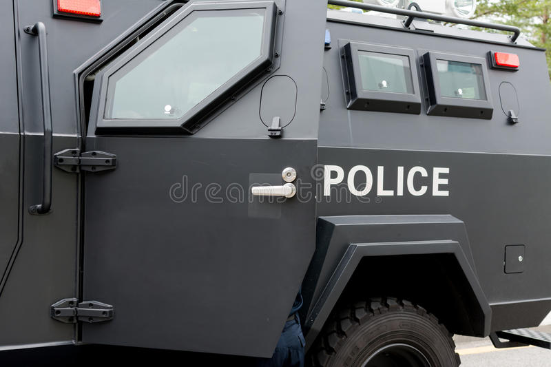 Police special vehicle. On duty during important events royalty free stock photo