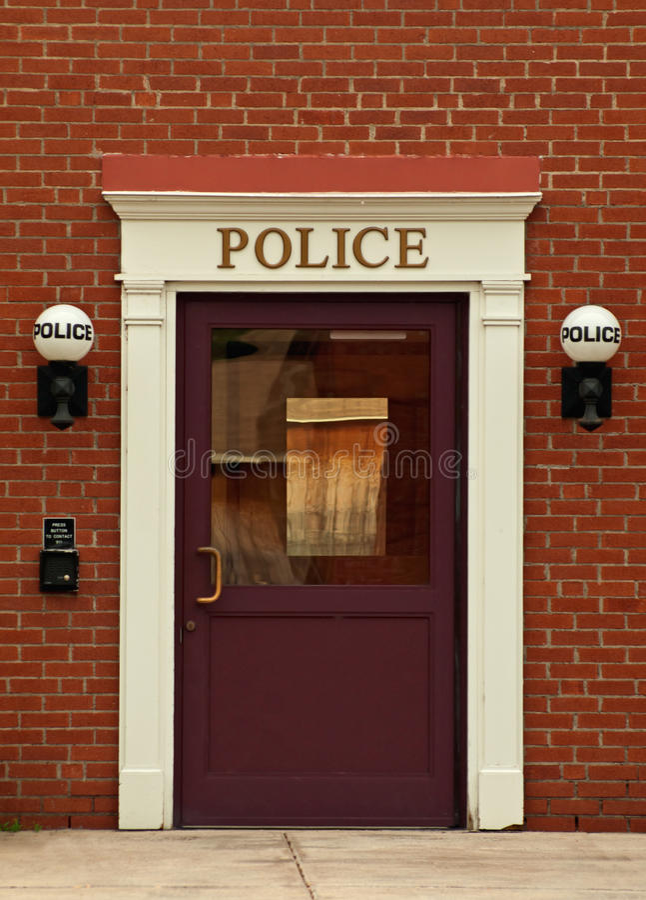 Download Police station stock photo. Image of helpers, door, brick - 19732624