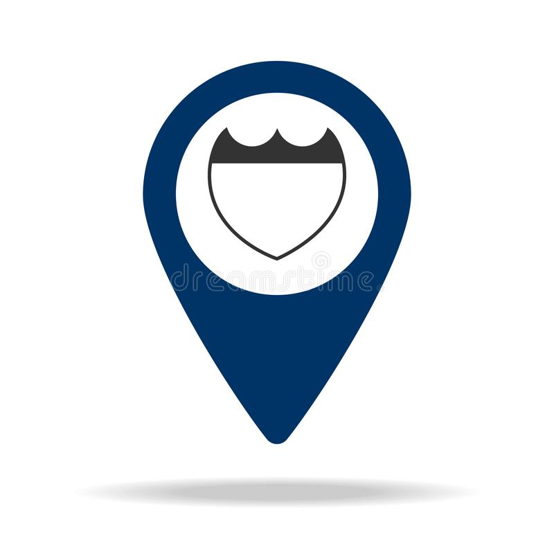 Police Station In Blue Map Pin Icon Element Of Map Point For Mobile