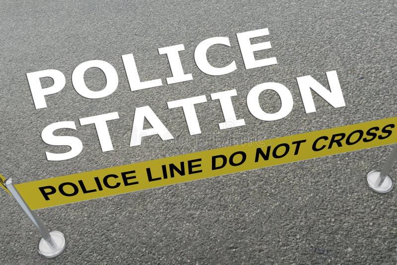POLICE STATION concept royalty free illustration