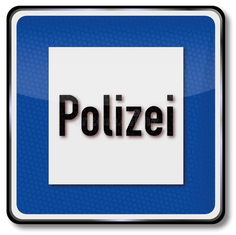 Police station sign royalty free illustration