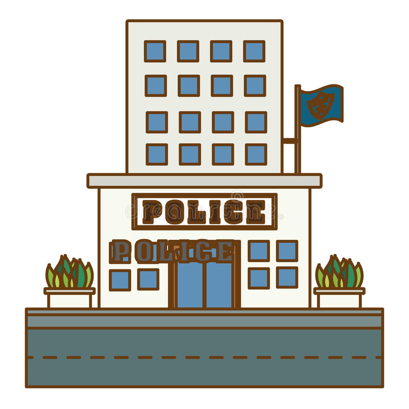 police station icon image design stock illustration illustration rh dreamstime com indian police station clipart police station clipart black and white