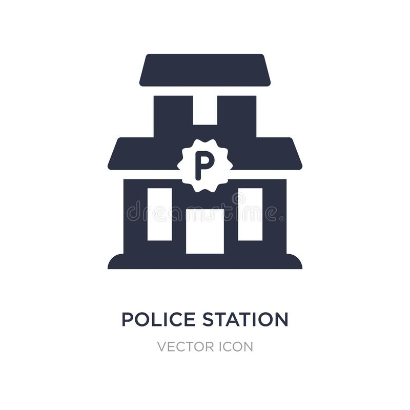 police station icon on white background. Simple element illustration from Alert concept vector illustration