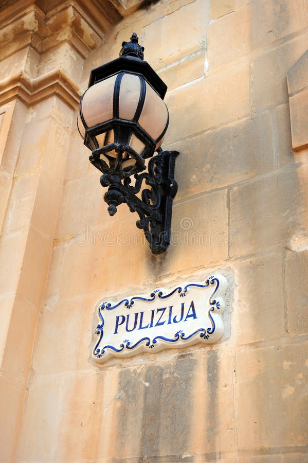 Police station, Mdina, Malta. stock images