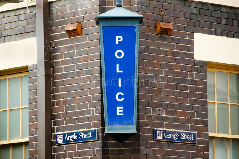 Police Station Sign stock images