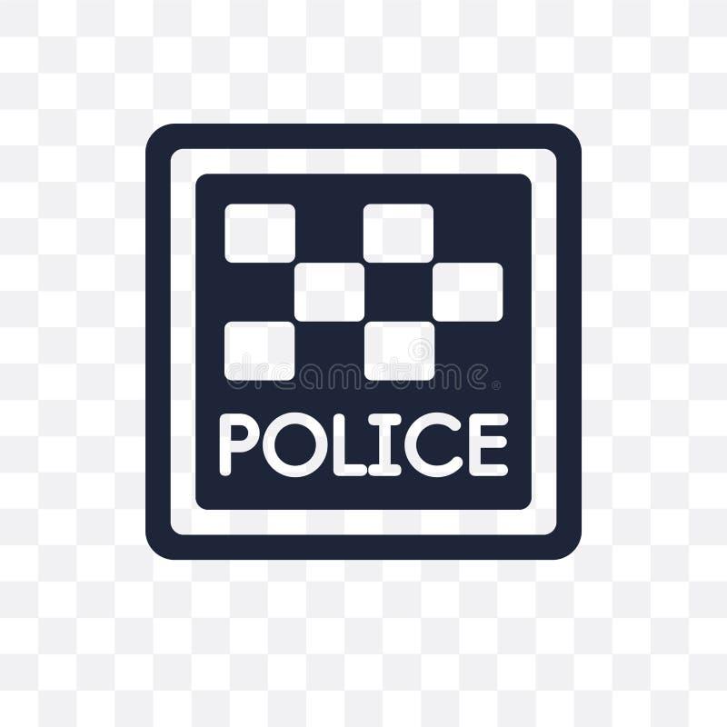 Police station sign transparent icon. Police station sign symbol vector illustration