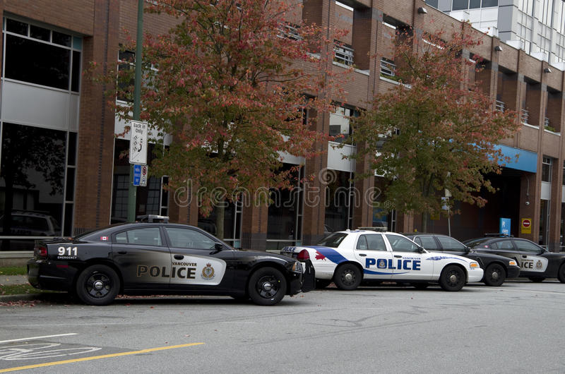 Police station Vancouver downtown stock images