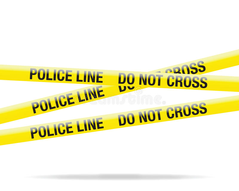 Download Police tape stock vector. Illustration of evidence, restricted - 26055948