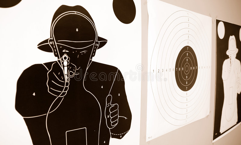 Police targets stock image