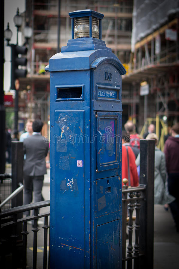 Police Telephone Box stock photography