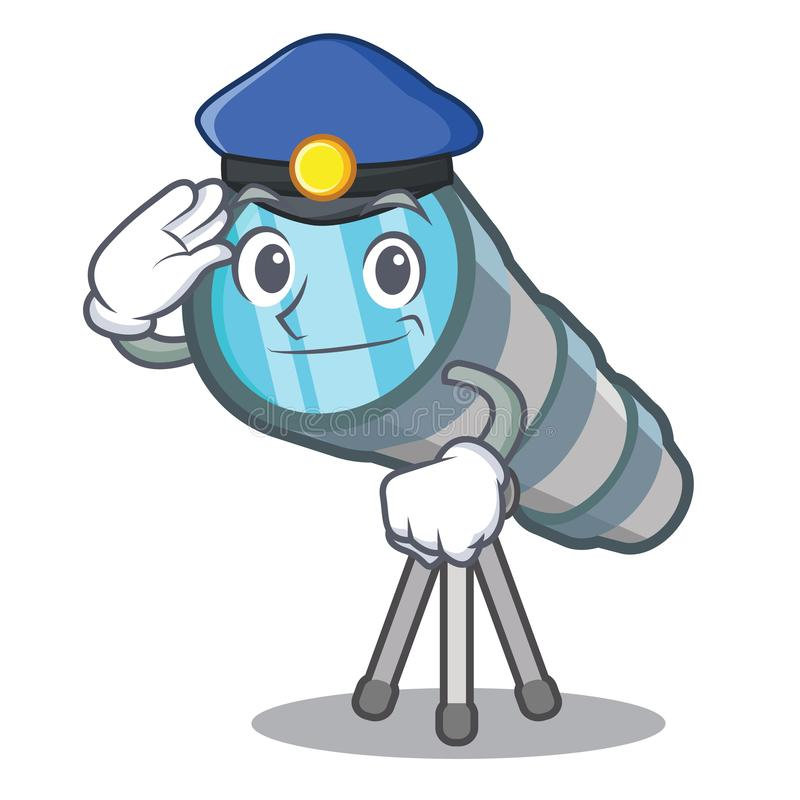 Police telescope isolated with in the mascot. Vector illustration royalty free illustration