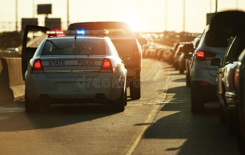 Police Traffic Stop royalty free stock photo