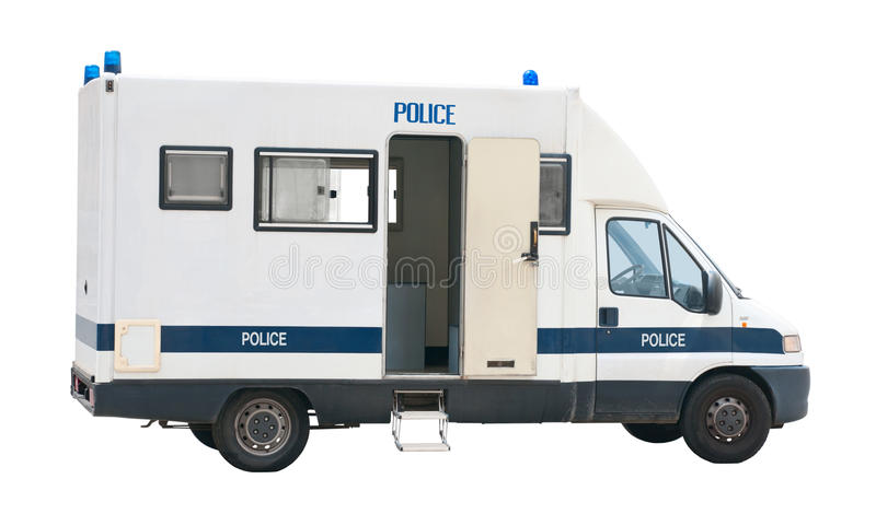 Police van cutout. Police van isolated on white background with clipping path. For more isolated objects please visit my collections royalty free stock photo