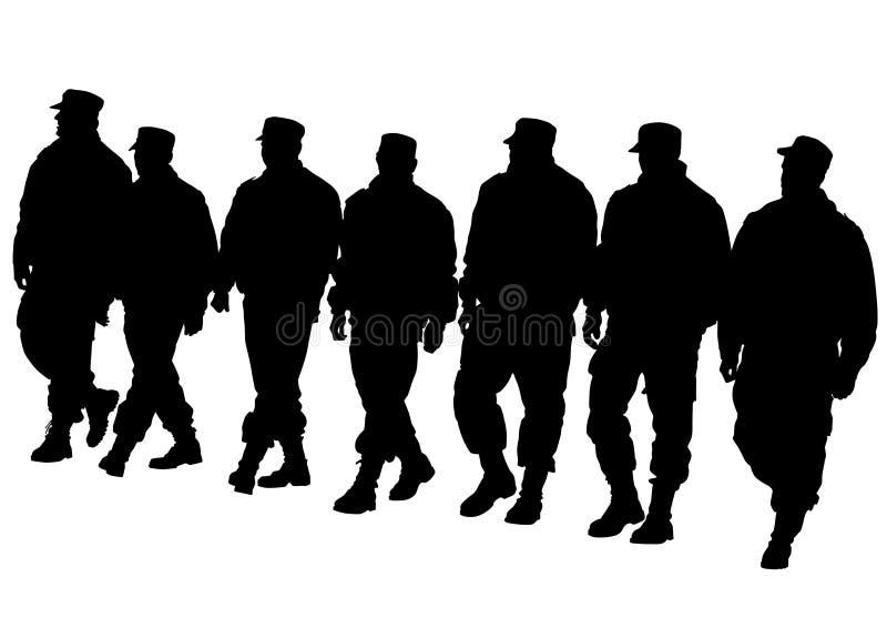 Police walk royalty free illustration