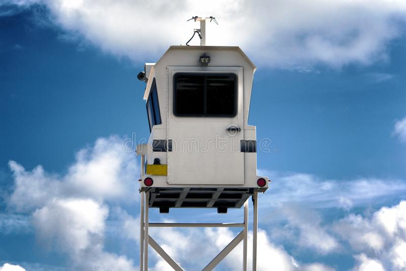 A police watch tower in Miami, USA.  royalty free stock photography