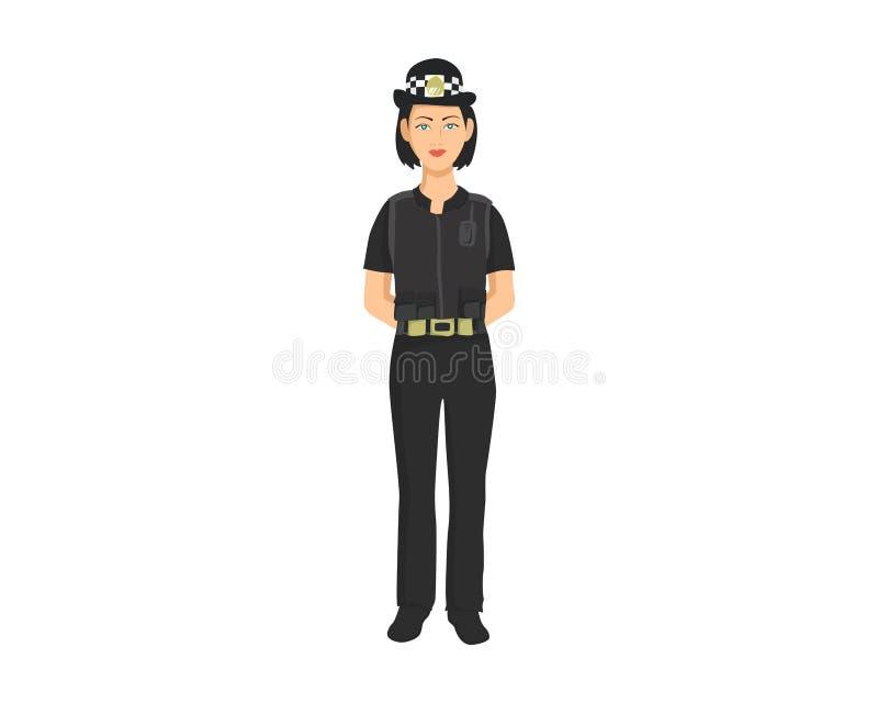 Police woman illustration stock image