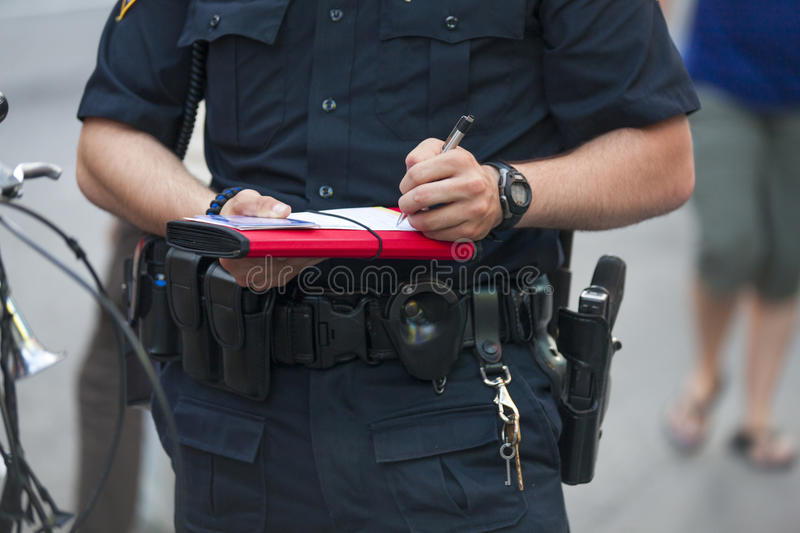 Download Police writes ticket stock image. Image of watch, uniform - 32421731