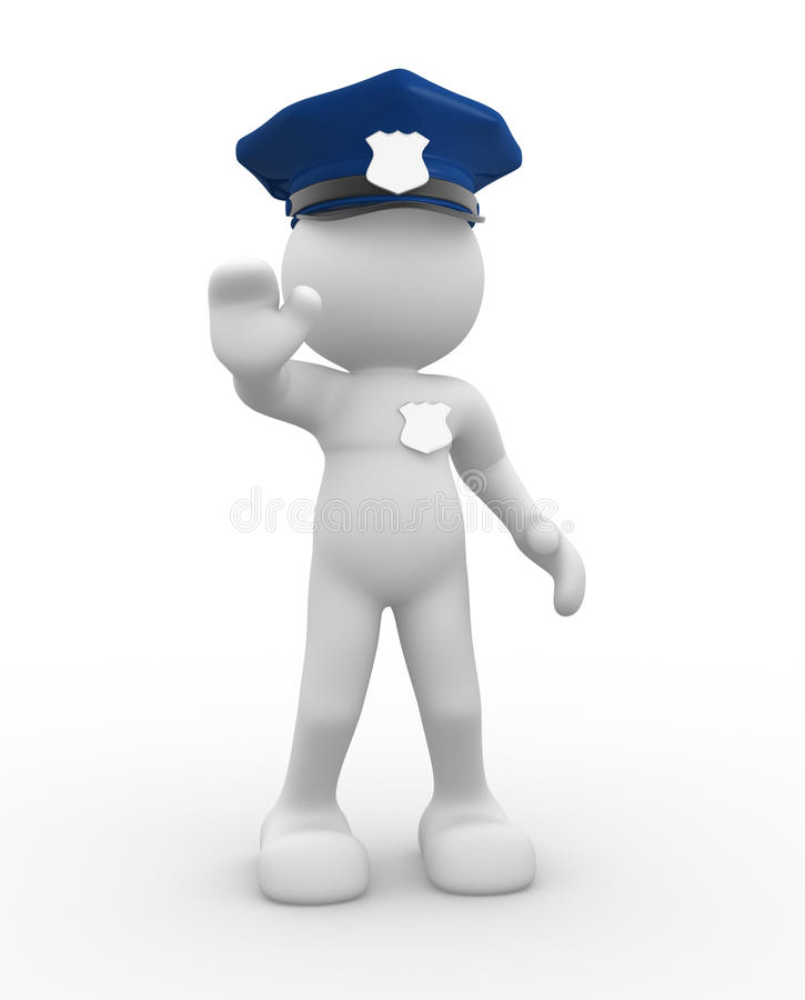 Policeman royalty free illustration