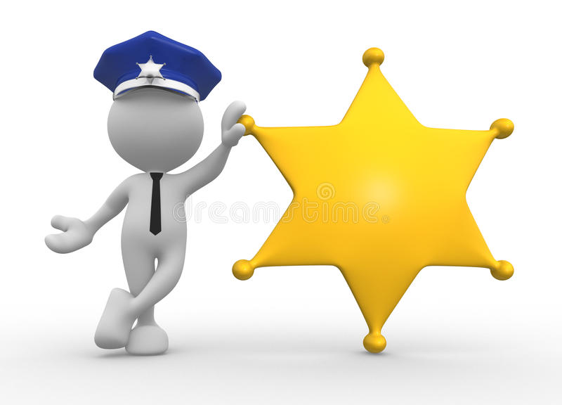 Policeman stock illustration