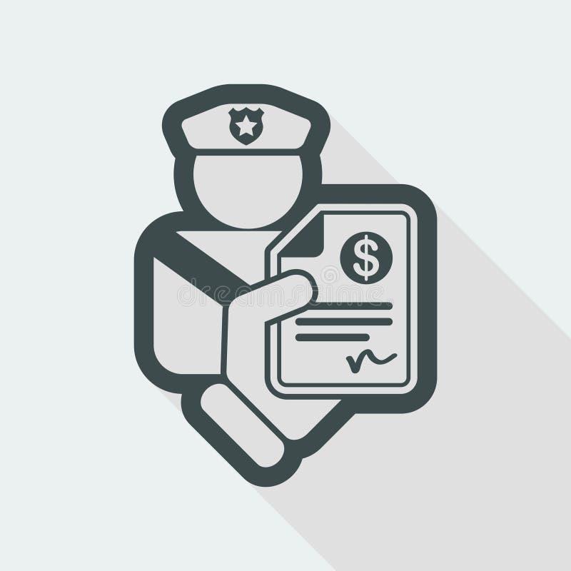 Policeman fine icon vector illustration