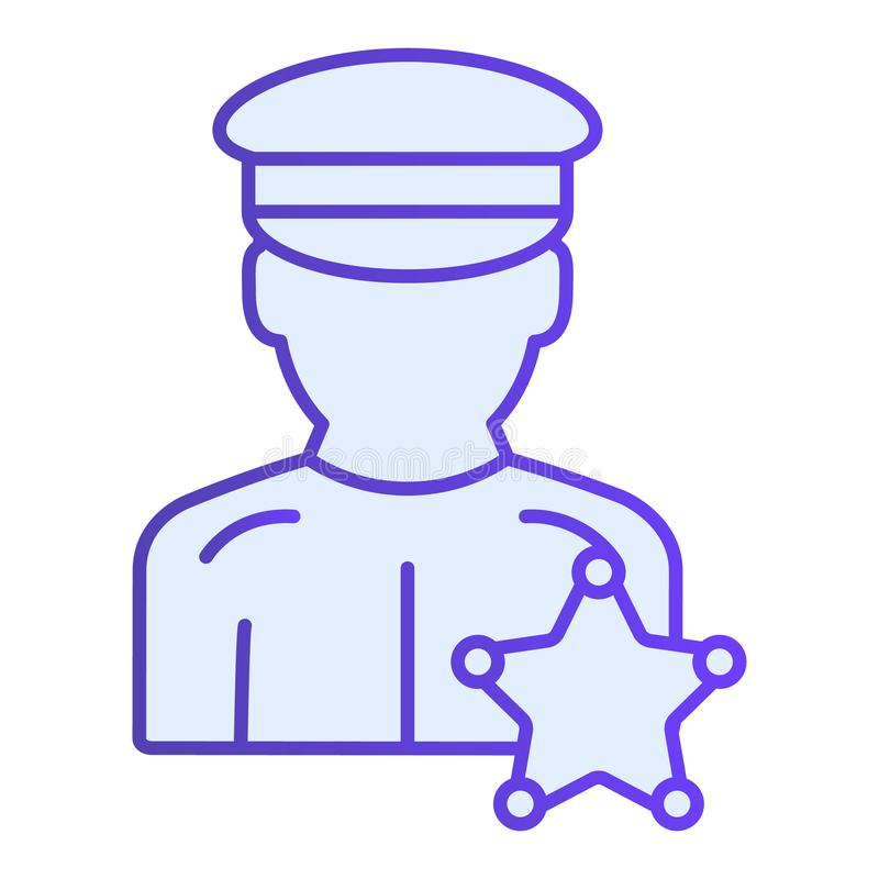 Policeman flat icon. Police officer blue icons in trendy flat style. Justice gradient style design, designed for web and vector illustration