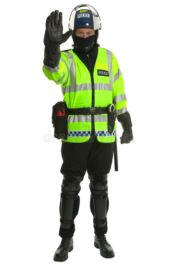 Free Policeman In Riot Gear - Stop Royalty Free Stock Photos - 3382168