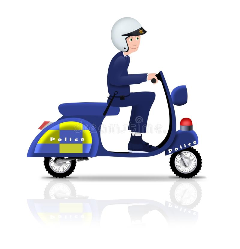 Policeman on Scooter royalty free stock image