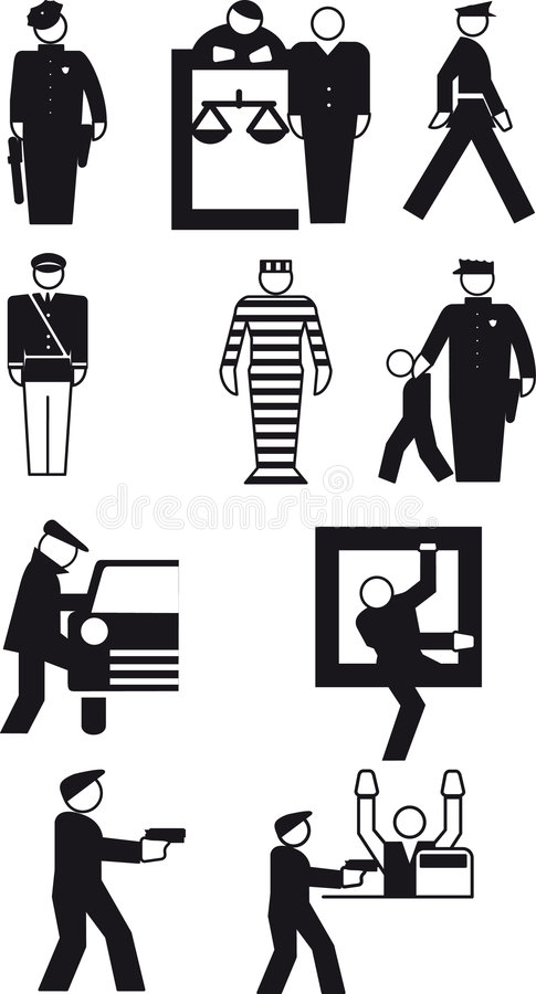 Download Policeman and  the thief stock vector. Illustration of action - 6997423