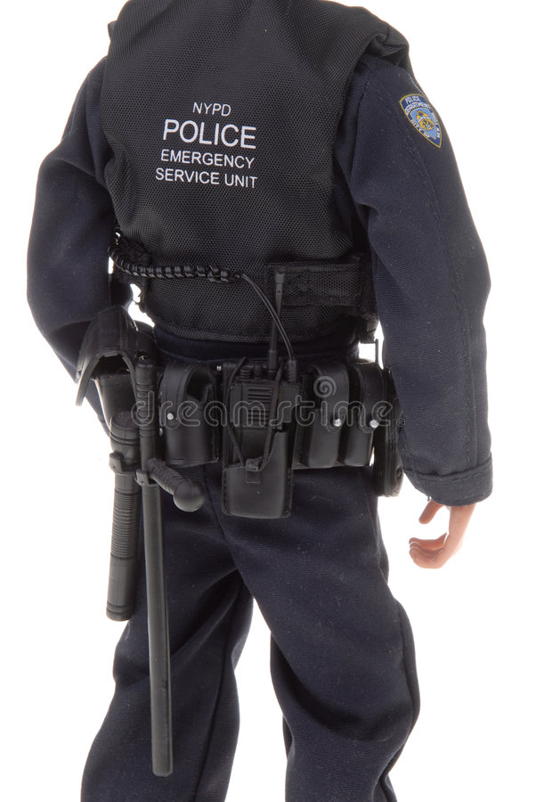 Policeman toy doll stock images
