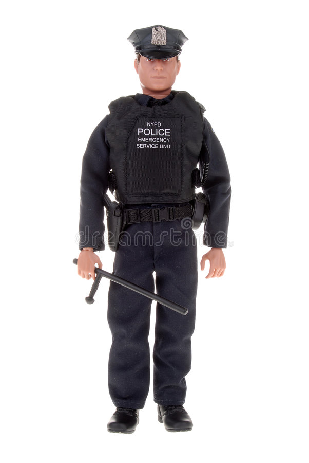 Download Policeman toy doll stock image. Image of vest, flashlight - 2181715