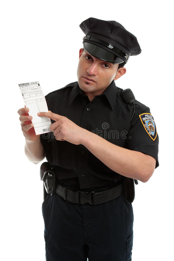 Download Policeman Traffic Warden With Infringement Ticket Stock Image - Image: 21174695