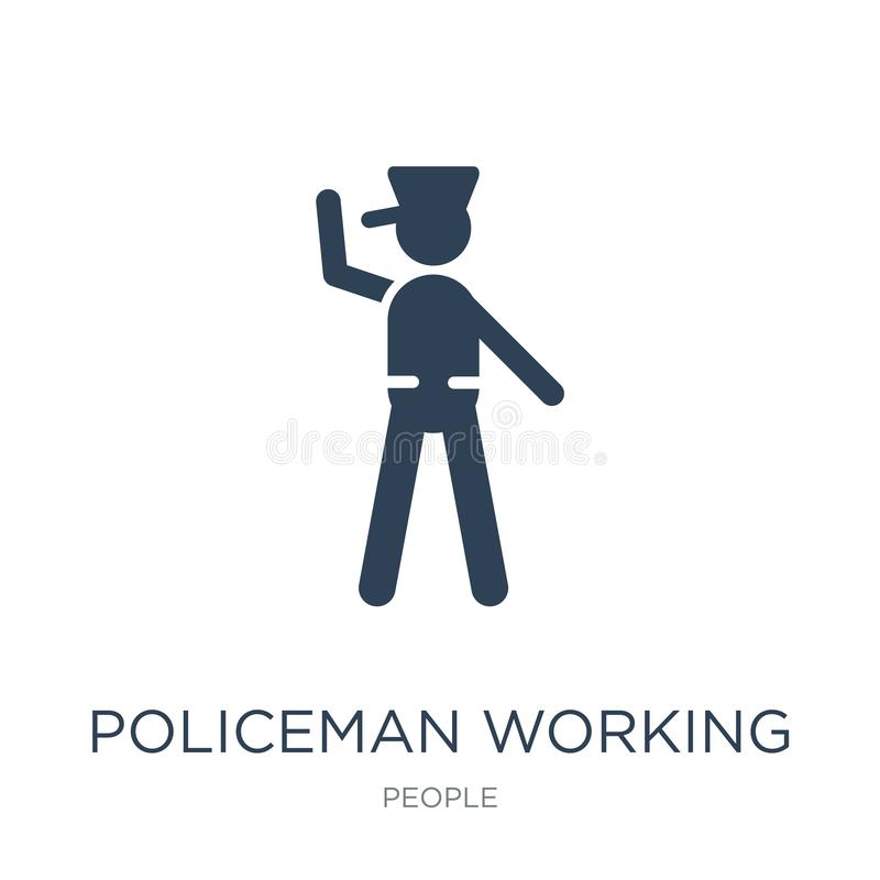 policeman working icon in trendy design style. policeman working icon isolated on white background. policeman working vector icon stock illustration