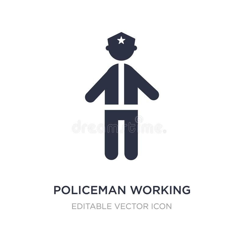 policeman working icon on white background. Simple element illustration from People concept royalty free illustration