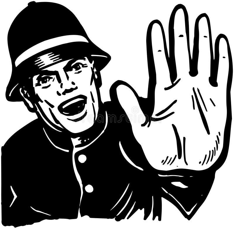 Policeman Yelling Stop vector illustration