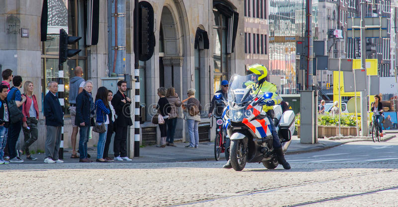 Policeofficer on Motorbike royalty free stock image