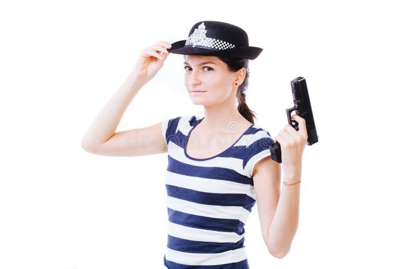 policewoman fotografía de archivo