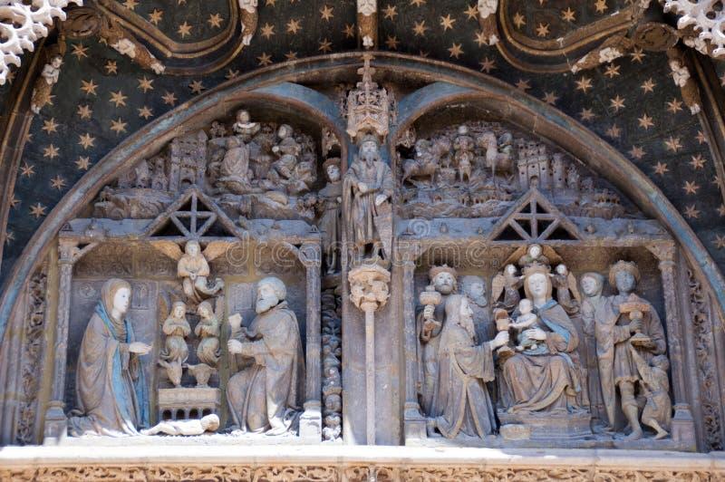 Polichromiczny ganeczek katedra zdjęcie royalty free