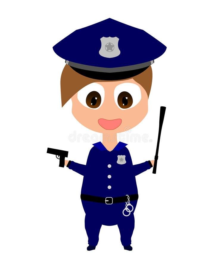 policière illustration de vecteur