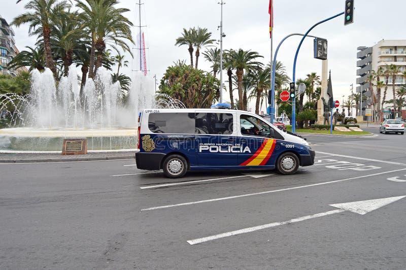 Policia西班牙警察小客车 免版税库存照片