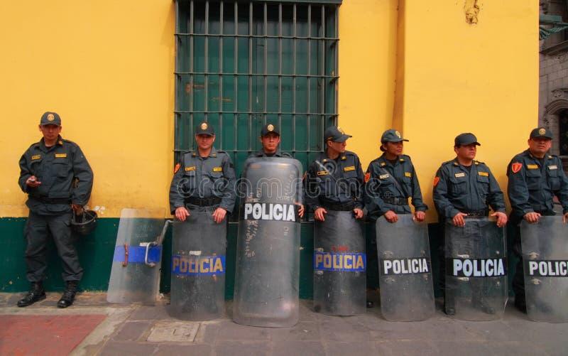 Policia in Lima, Peru royalty-vrije stock afbeelding
