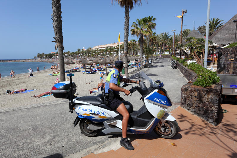 Download Policia Local, Tenerife Editorial Stock Photo - Image: 19105278