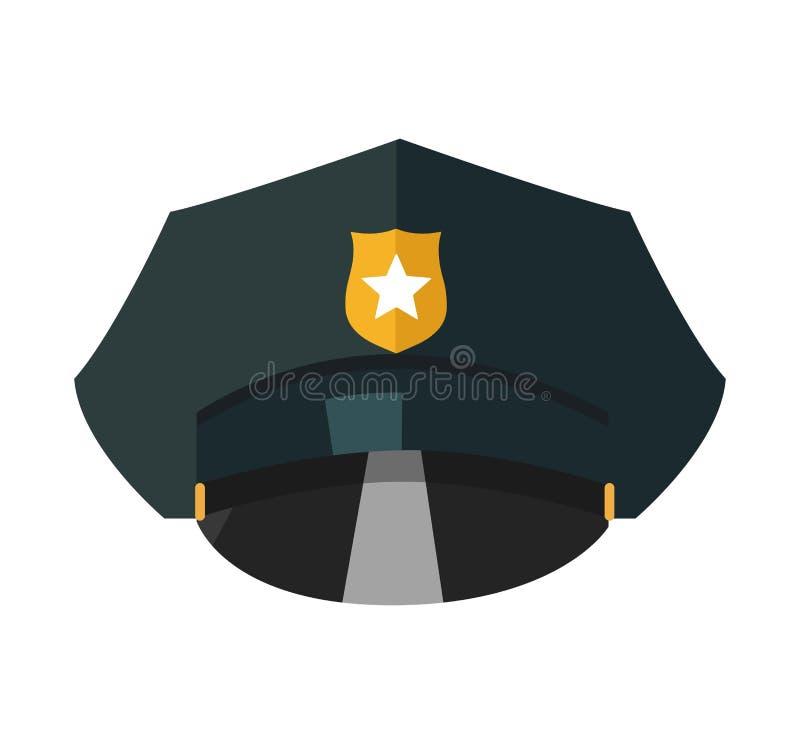 Policie o tampão com a ilustração realística simbólica dourada do vetor isolada ilustração stock