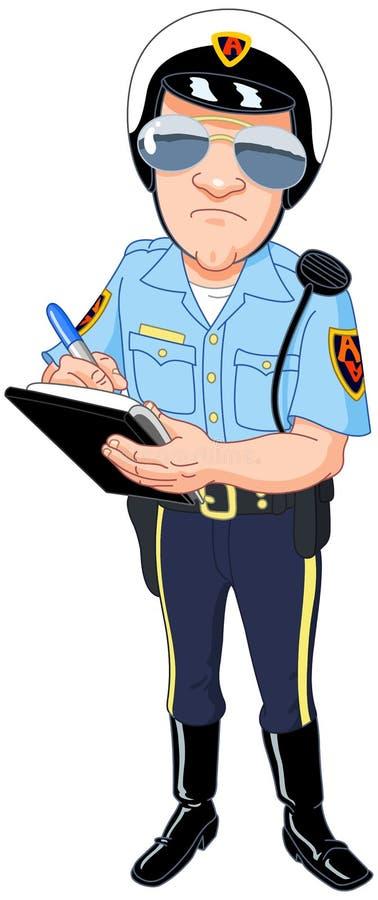 Policier illustration libre de droits