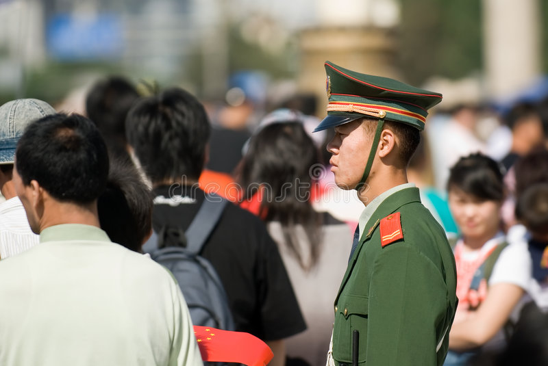 Policier chinois photographie stock