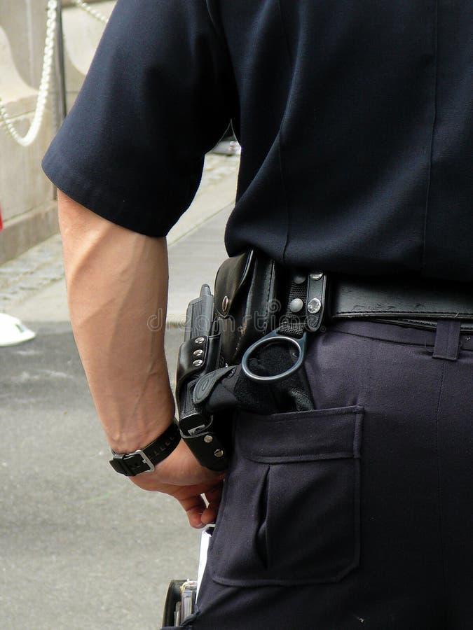 Policier dans l'uniforme photographie stock