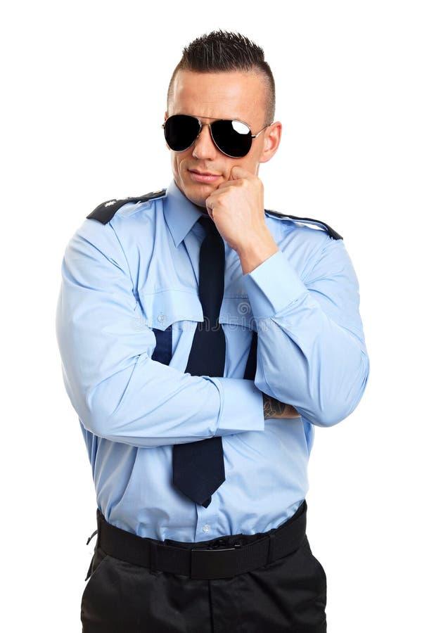 Download Policier De Pensée Dans Des Lunettes De Soleil Photo stock - Image du policier, caucasien: 45359476