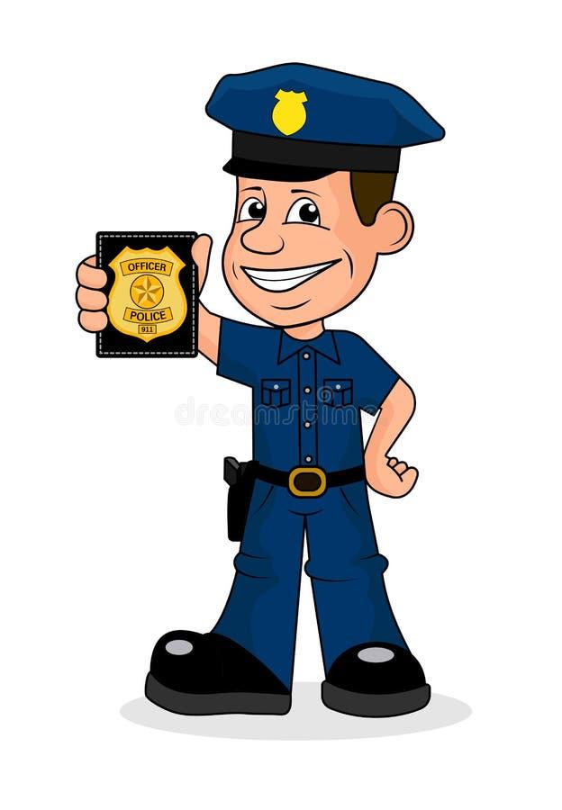 Policier gai illustration stock