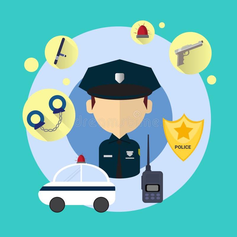 Download Policier Man Icon illustration de vecteur. Illustration du dessin - 77157202