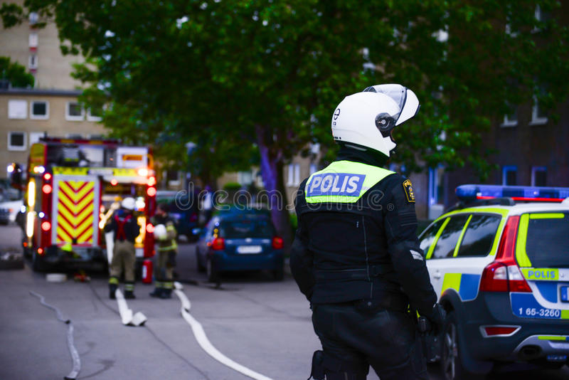 Policier suédois images stock