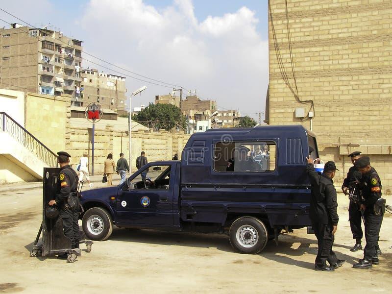 Policiers égyptiens image libre de droits